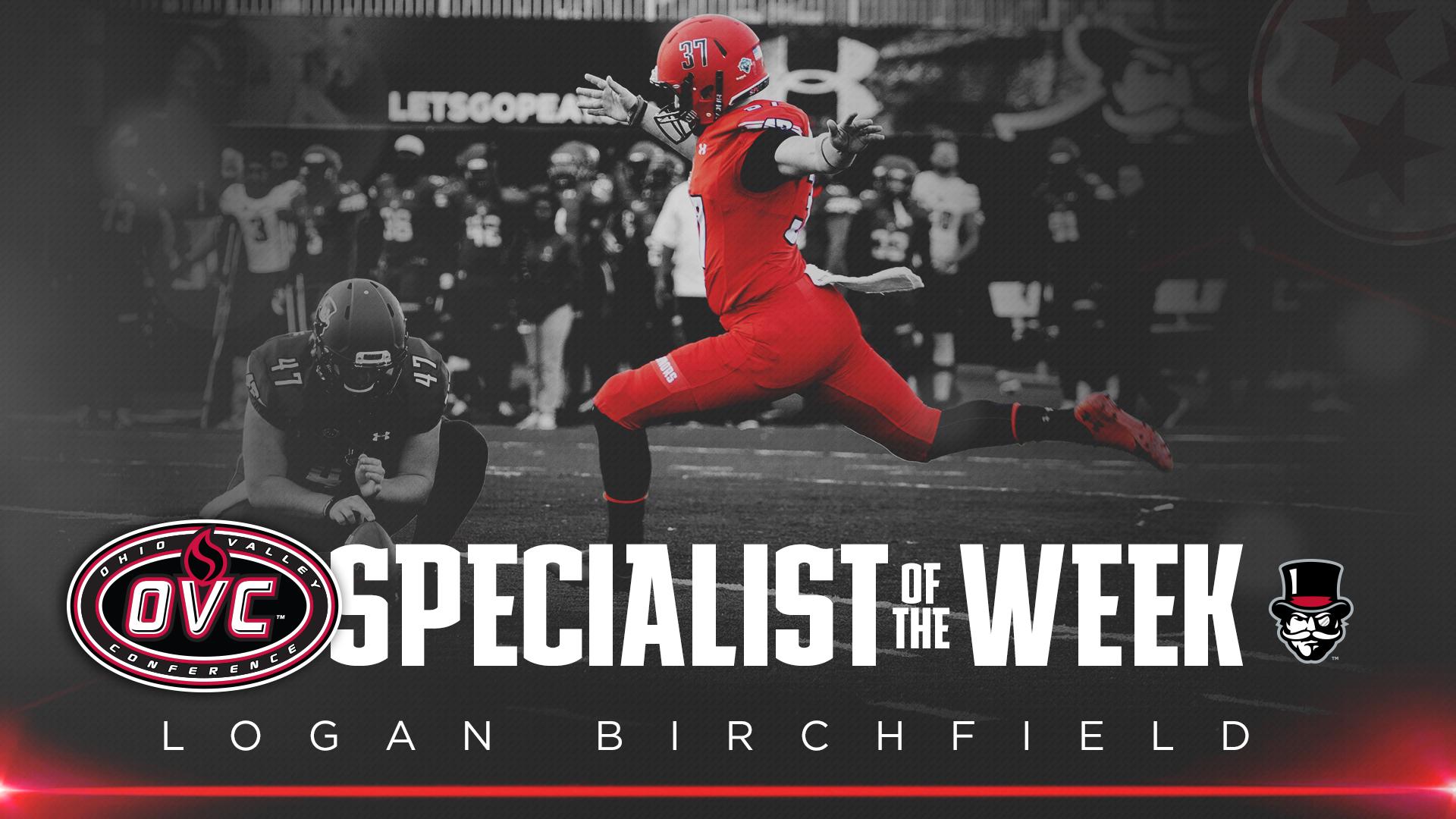 AP's Birchfield named OVC Specialist of the Week