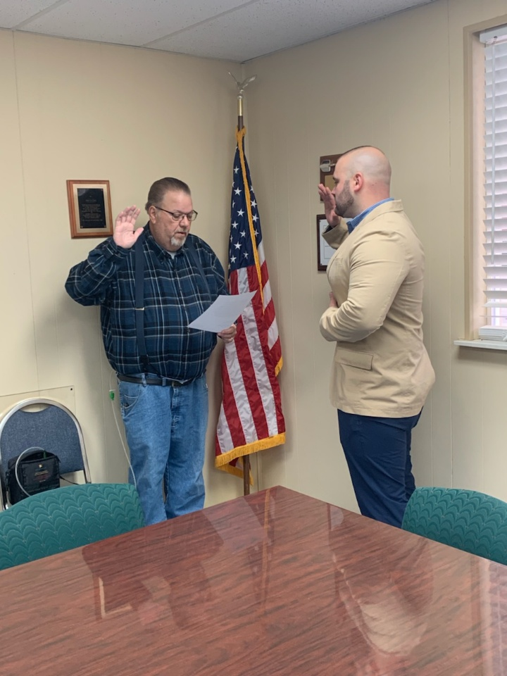 Guthrie PD swears in Sgt., hopes to have K9 unit on road by spring of 2019