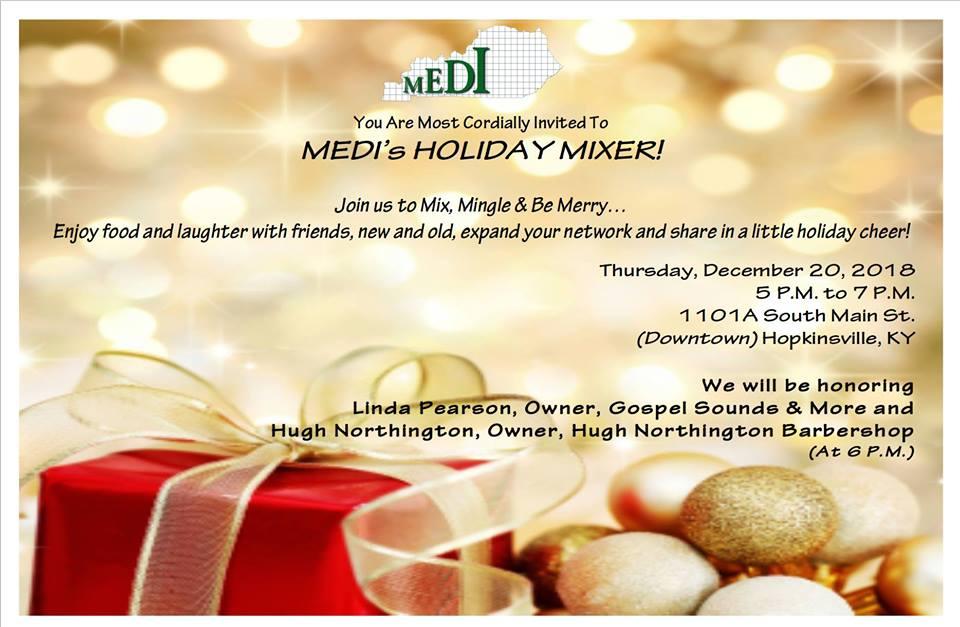 MEDI, Inc. hosting holiday mixer Thursday