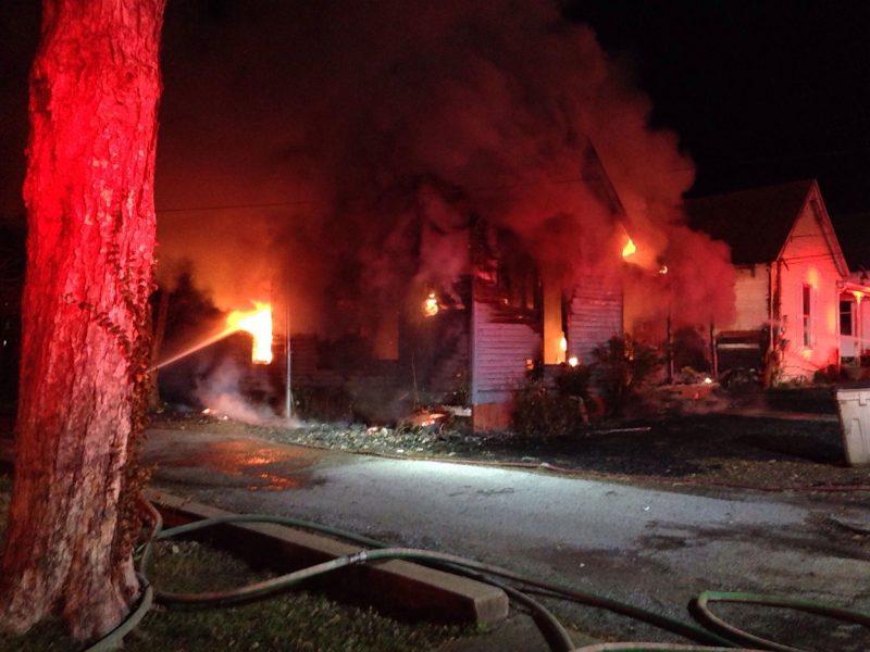 Fire destroys East 12th Street home