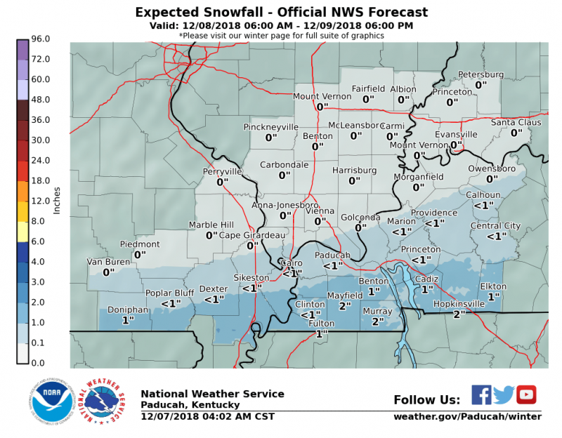 Major winter storm not expected over weekend, 1-2 inches of snow possible