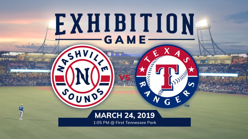 Nashville Sounds to host Texas Rangers in 2019
