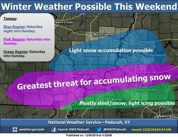 Travel impacts likely with winter weather over weekend