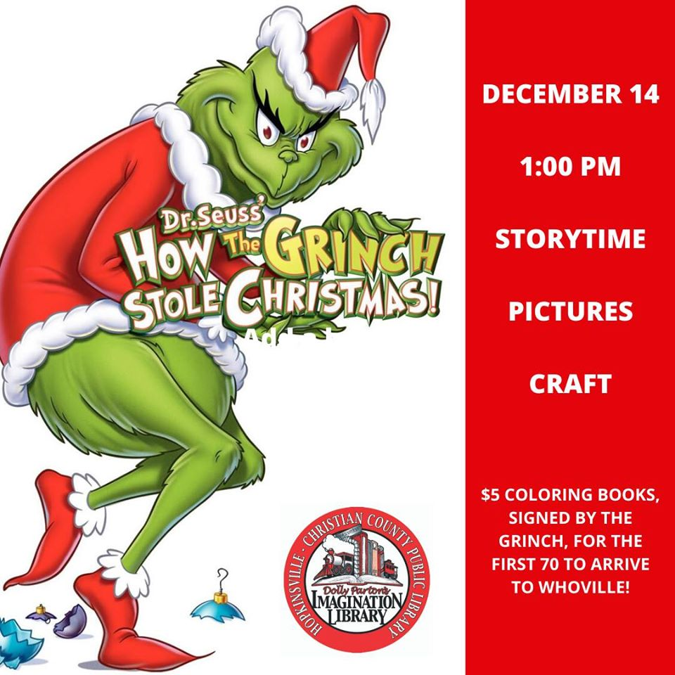 - Grinch To Be At Library This Saturday WHOP 1230 AM News Radio