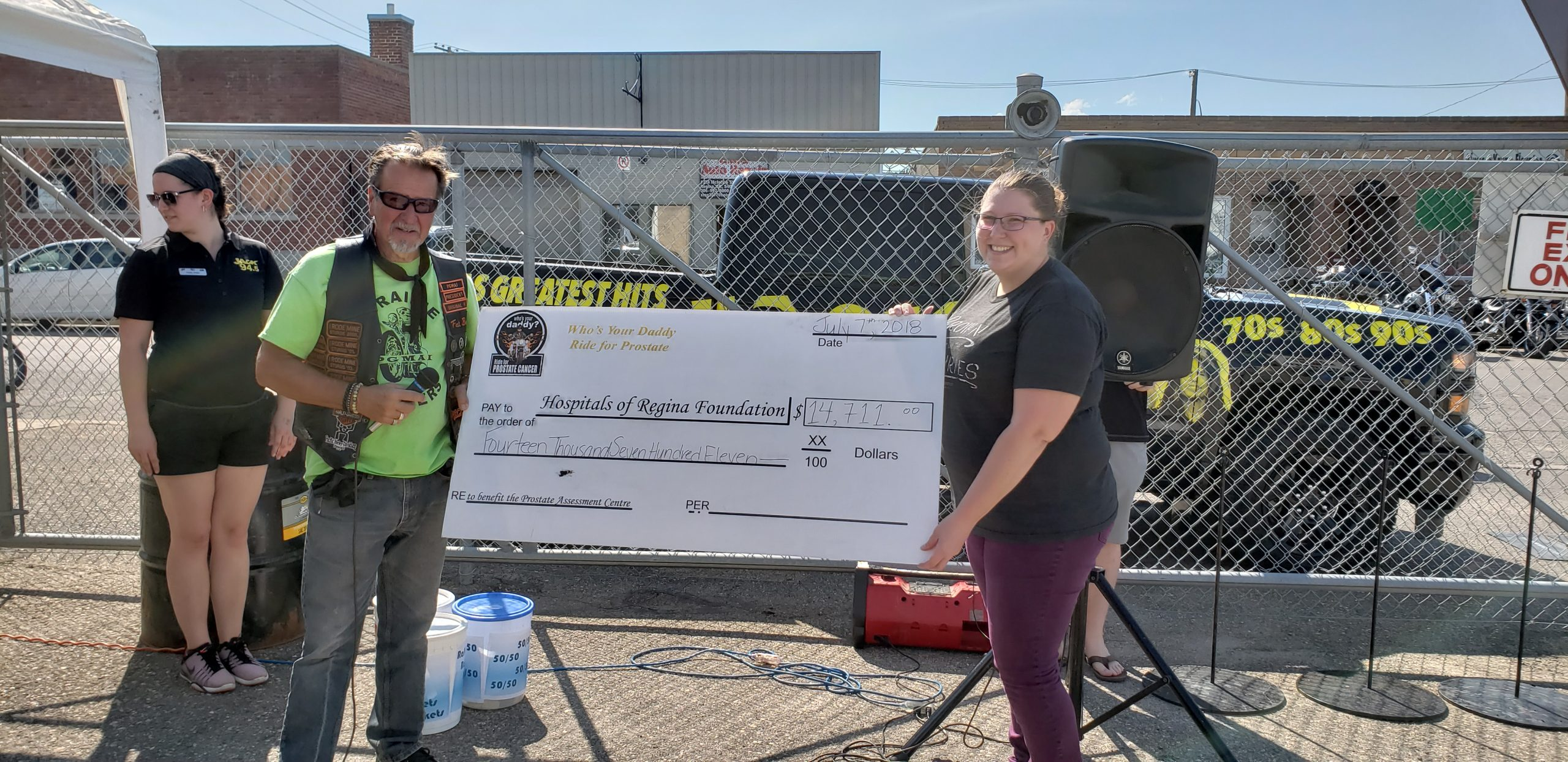 Jack 94.5 - Motorcycle enthusiasts raise $14,711 for Regina's Prostate Assessment Centre