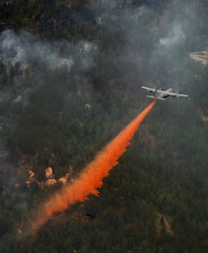 Water bombers loading up to fight wildfires (video)