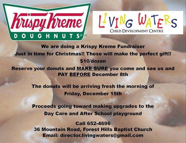Krispy Kreme Calendar.Krispy Kreme Fundraiser For Living Waters Rock 88 9