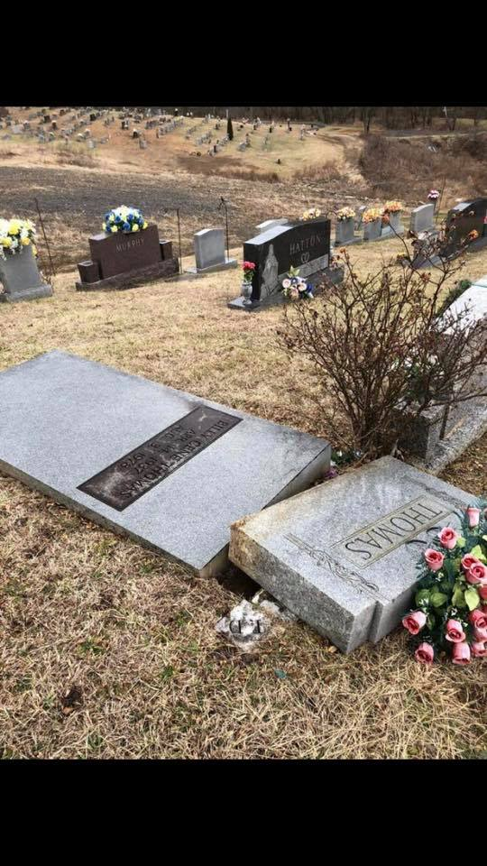 Breathitt Co Cemetery Vandalized