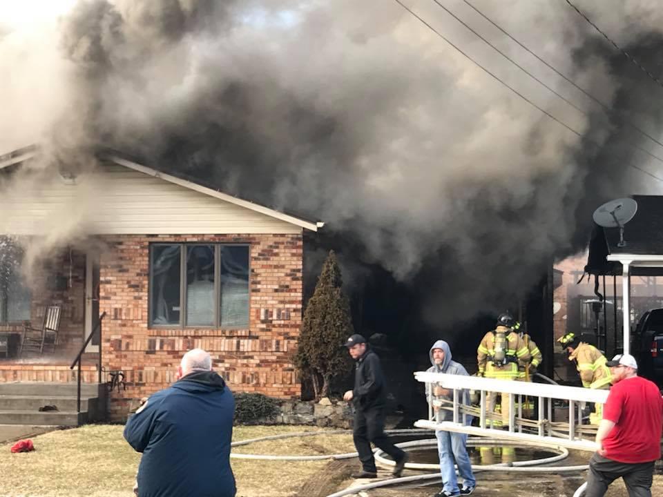 Fire Destroys House in Paintsville