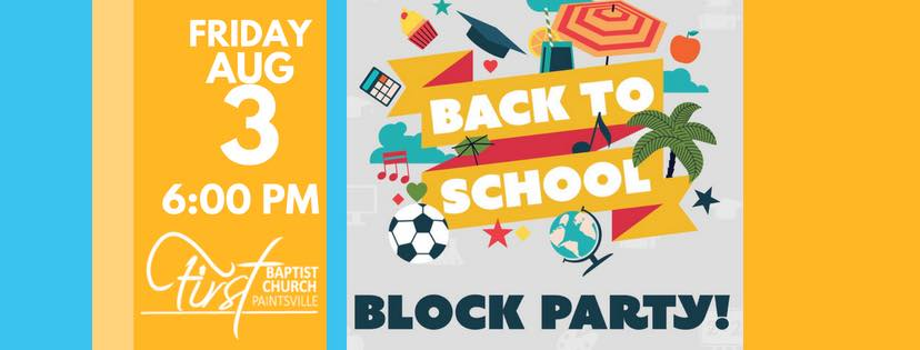 Local Church to Host Back to School Block Party