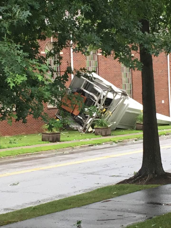 Storm Damage Reported in Downtown Paintsville