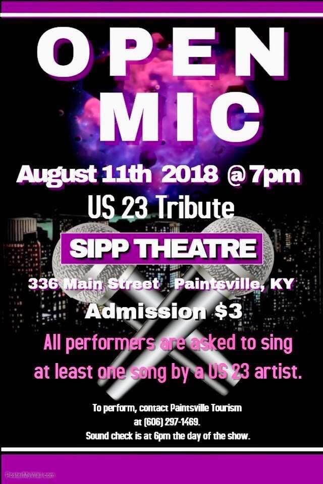 US-23 Artists to be Celebrated at Open Mic Night