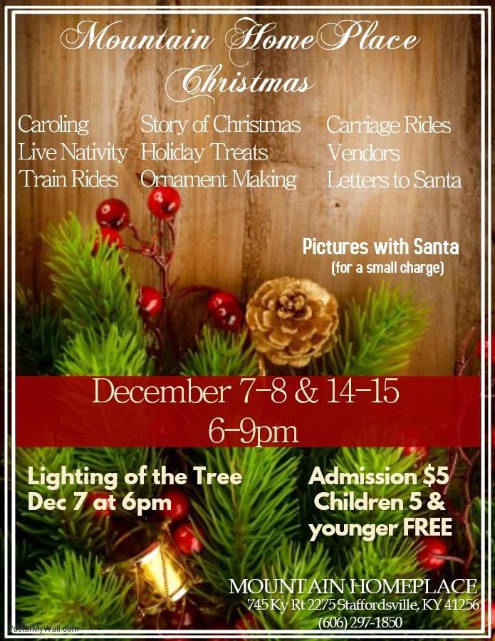 Mountain Homeplace Christmas to be held December 7-8 & 14-15