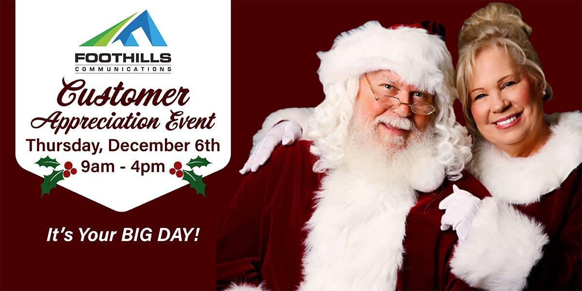 Foothills Customer Appreciation Day is December 6th