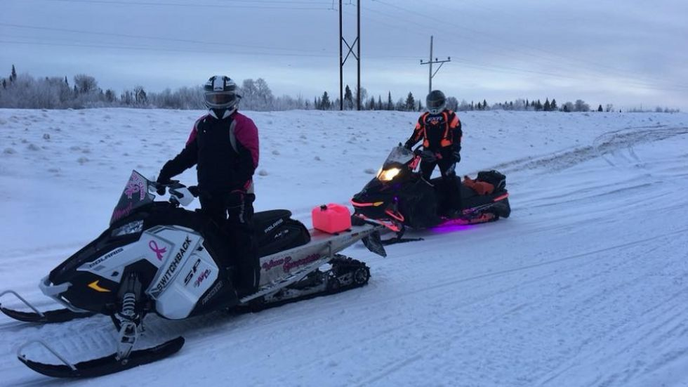 Prairie Women on Snowmobiles begins in Meadow Lake, ends in