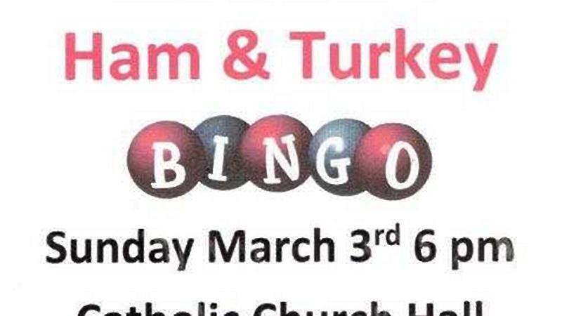 K of C Ham and Turkey Bingo