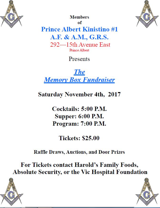 Masonic Memory Box Program | paNOW | Prince Albert, Saskatchewan