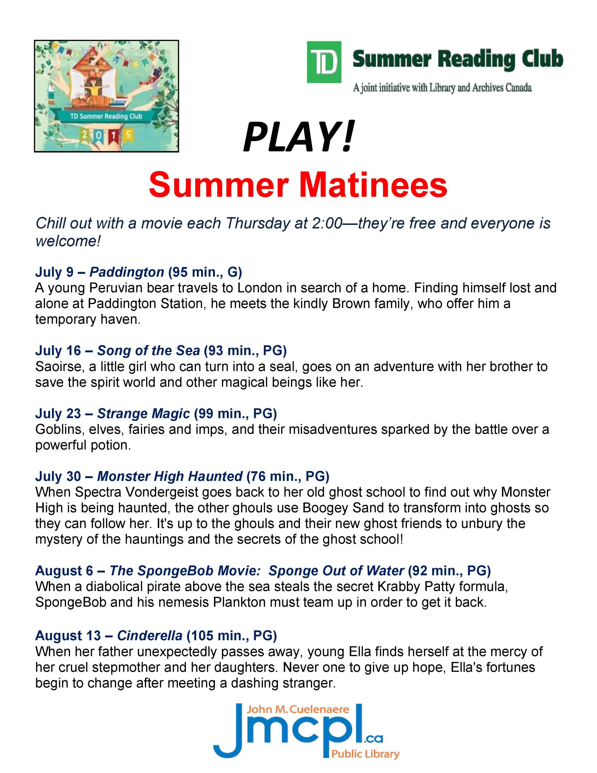 Free Summer Activities at the Library | paNOW | Prince