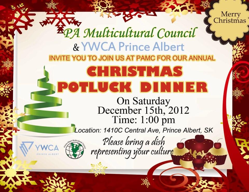 Christmas Potluck.Multicultural Christmas Potluck Panow Prince Albert