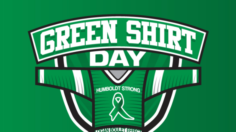Dionne declares Tuesday to be Green Shirt Day in honour of Logan Boulet
