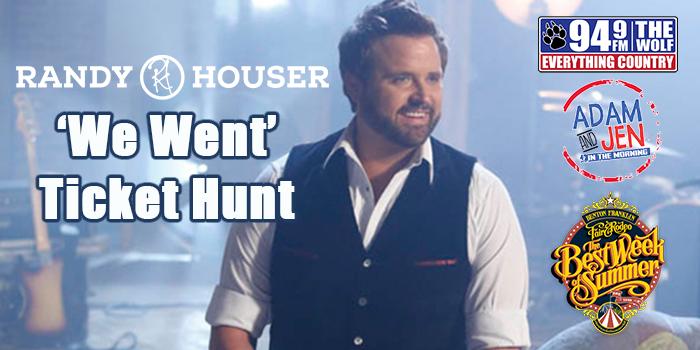 Feature: http://www.949thewolf.com/randy-houser-we-went-ticket-hunt/