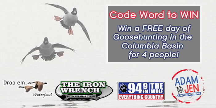 Feature: https://www.949thewolf.com/win-a-goosehunting-trip-for-4/