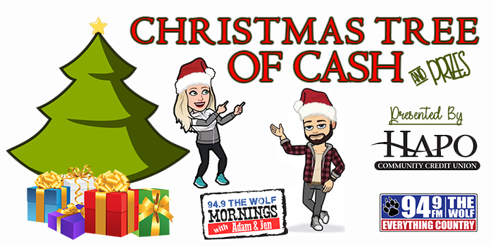 Feature: http://www.949thewolf.com/94-9-the-wolfs-christmas-tree-of-cash/
