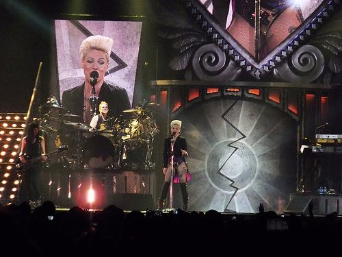 P!nk slams critics for going to beach after she cancelled her show!