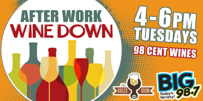 Feature: http://www.big987.com/after-work-wine-down-at-the-boiler-room/