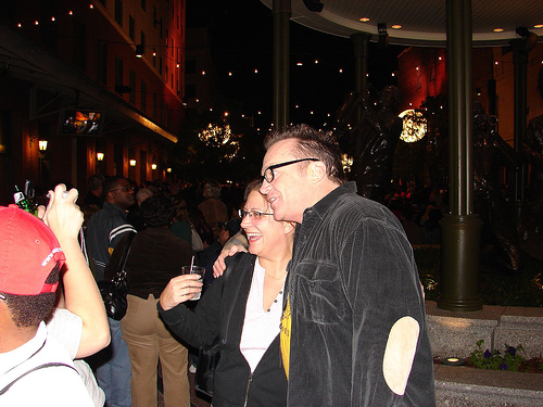 Tom Arnold and Mark Burnett get into a pre-Emmy's party brawl!