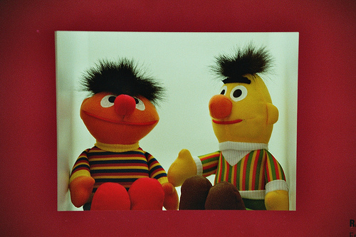 Writer of Sesame Street claims Bert & Ernie are a gay couple; company denies claims.