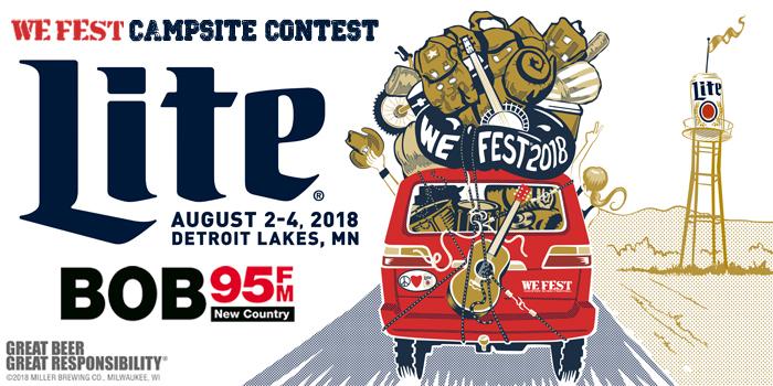 Feature: http://www.bob95fm.com/we-fest-campgrounds-contest/
