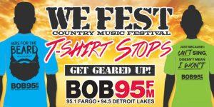 BOB 95 We Fest T-shirts presented by Liquid Ice Energy Drink | Bob 95 FM