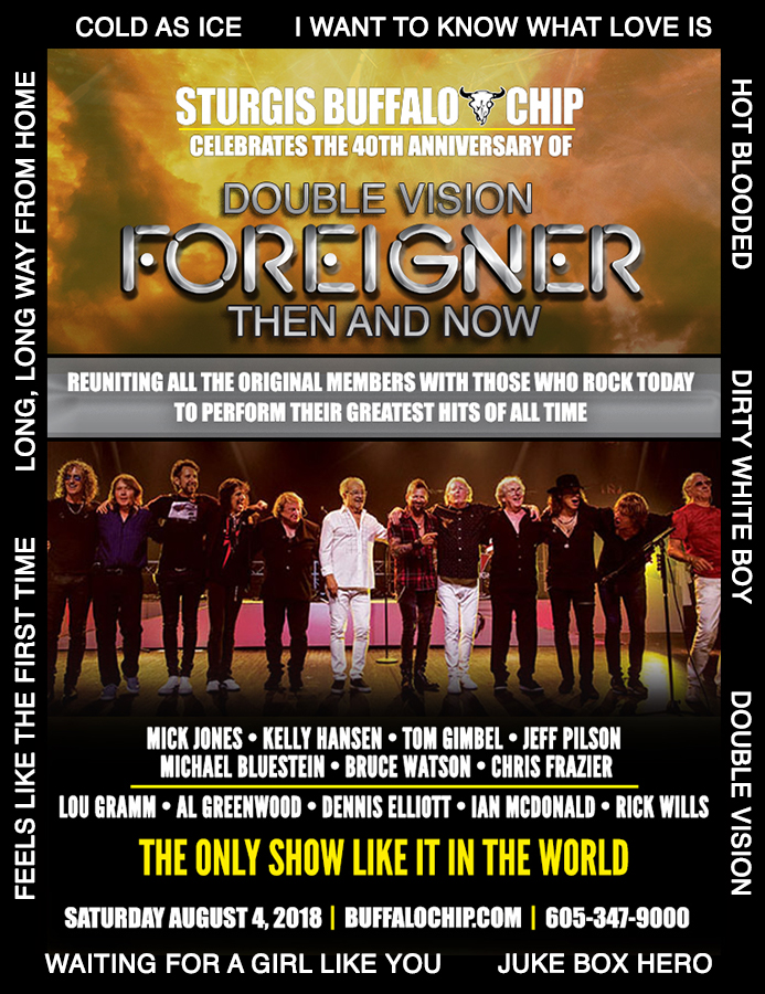 FOREIGNER Reunites with Original Band Members at the Sturgis Buffalo Chip®
