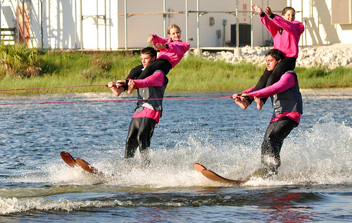 A Woman Tries to Waterski Barefoot, But Gets Launched Into the Air