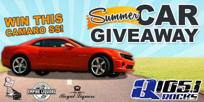 Feature: http://www.q1051rocks.com/summer-car-giveaway/