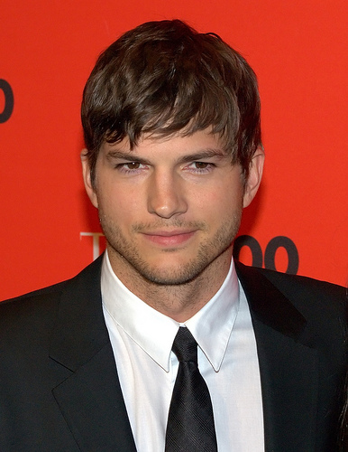Ashton Kutcher Reveals His Receding Hairline on Conan.
