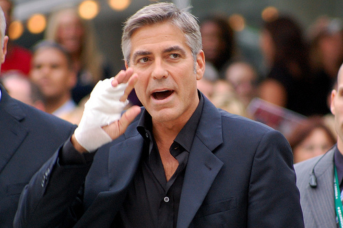 George Clooney Catapulted Into the Air in Scooter Crash Footage.