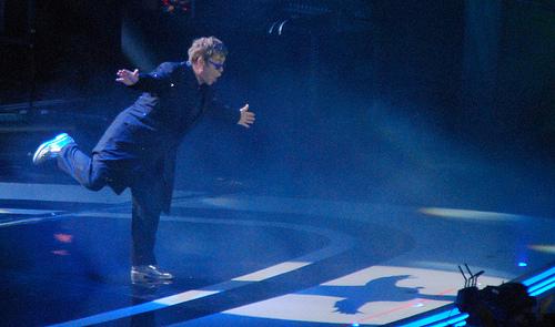 """Watch Elton John Sing """"Happy Birthday"""" to Godson Romeo Beckham."""