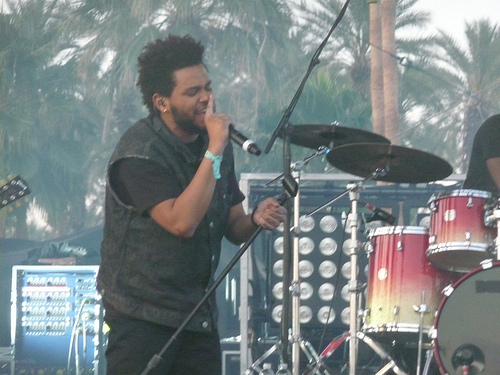 The Weeknd Narrowly Avoids Being Hit by Falling Object on Stage.