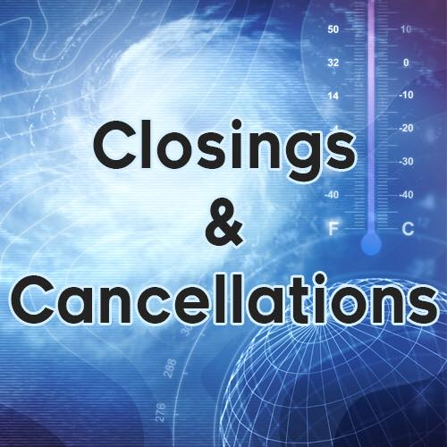 Closings for Wednesday, March 21st
