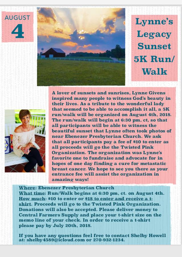 Lynne's Legacy Sunset 5k Run/Walk