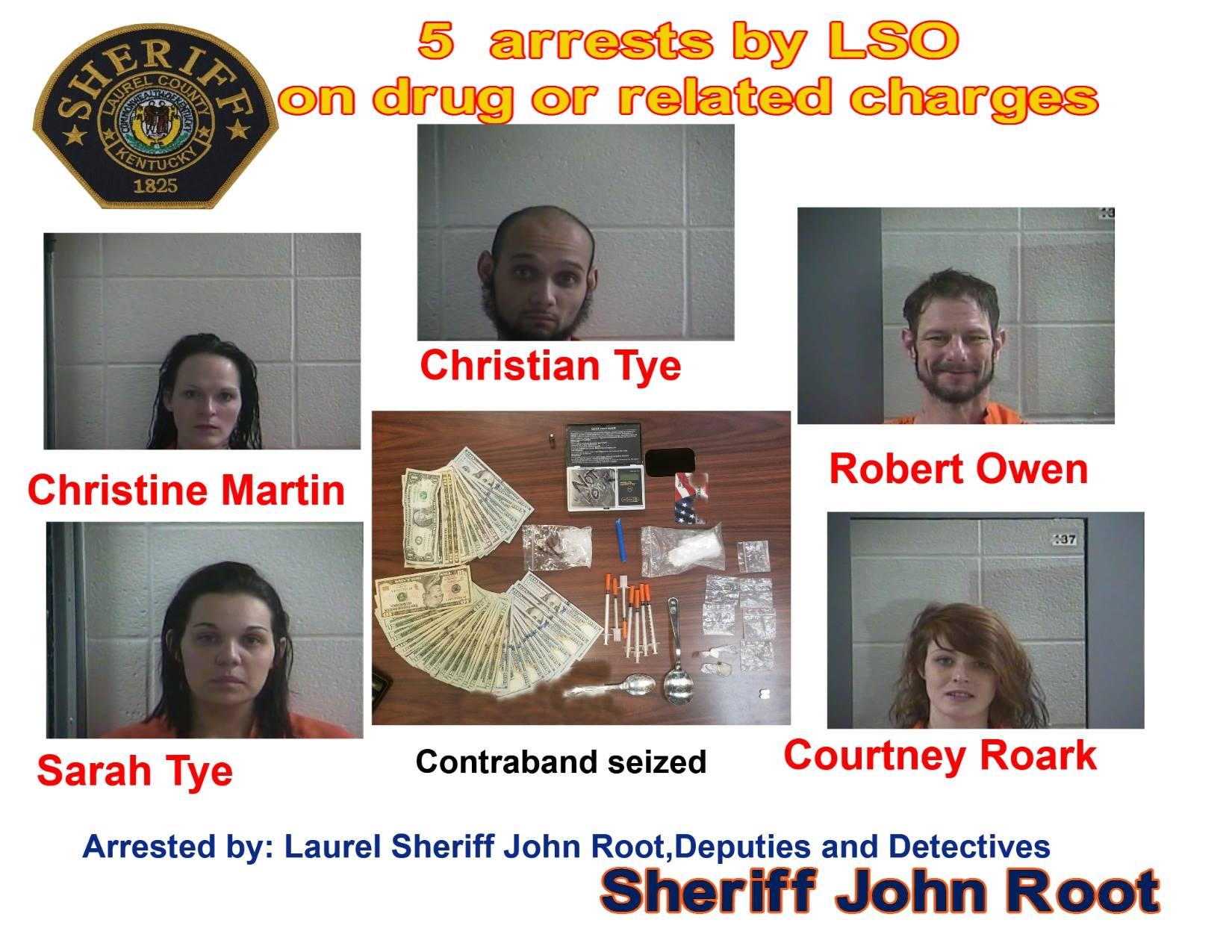 Trespassing Complaint Leads To Drug Arrests In Laurel County