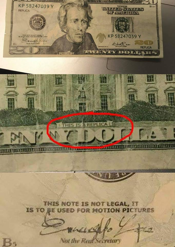 London Police Warning Of Fake Movie Money Circulating The Area
