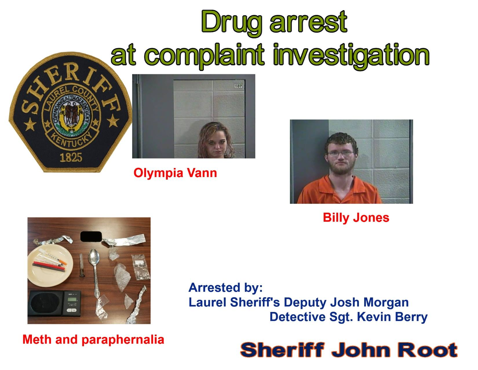 Laurel County Trespassing Complaint Leads To Two Arrests
