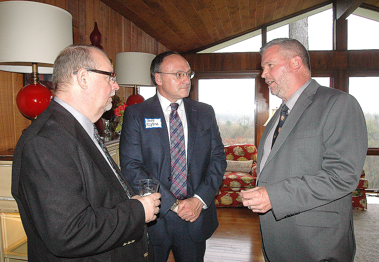 Dave Talks With Judge Ballou At The Home Of Terry And Marion Forcht