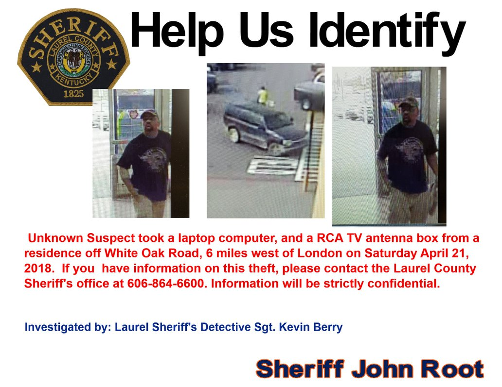 Laurel County Police Looking For Theft Suspect