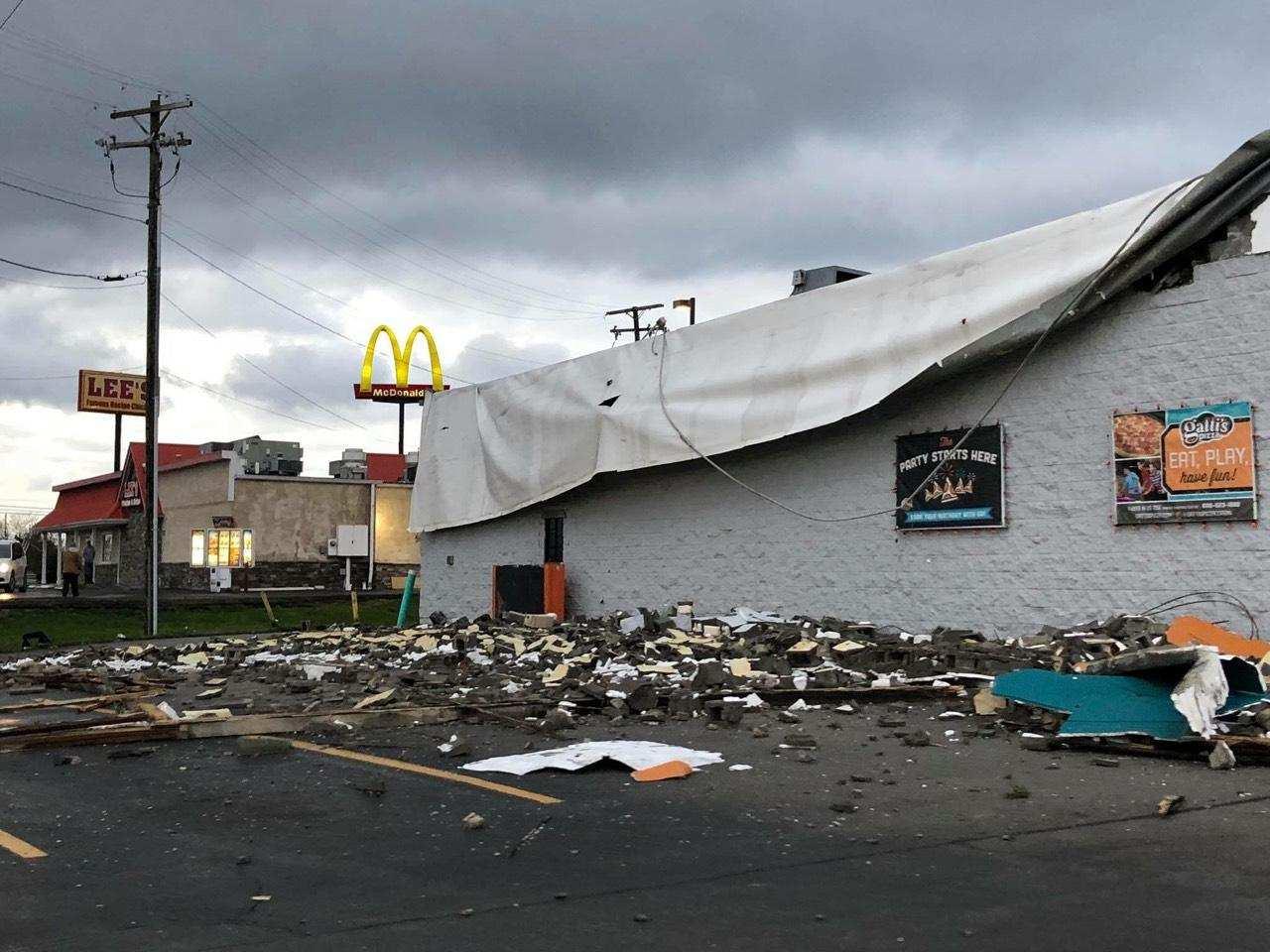 Storms Cause Damage In The Region, Including Corbin's Mr. Gatti's