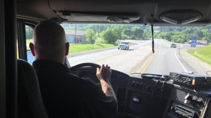 KSP Using Tractor-Trailers To Get Better View Of Distracted Drivers