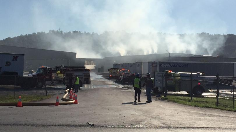 Firefighters Battle Flames At Pulaski County Business